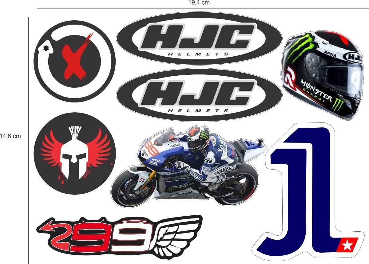 Cartela Adesivo Sticker Automotivo Jorge Lorenzo 03 R 4990 Em Stiker Helm Desain Rpha Carregando Zoom