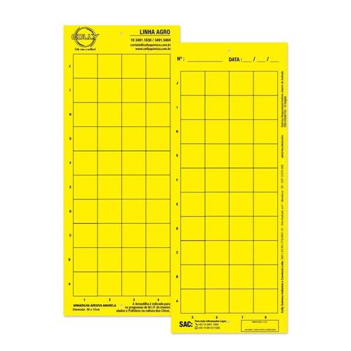 cartela amarela pega mosca pack com 50 unidades