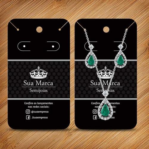 cartela bijuterias brincos colar 7x9,94 +7x4,8 laminad fosco