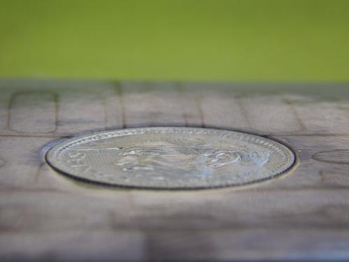 cartela / blister para moeda de prata de 2000 réis de 1935