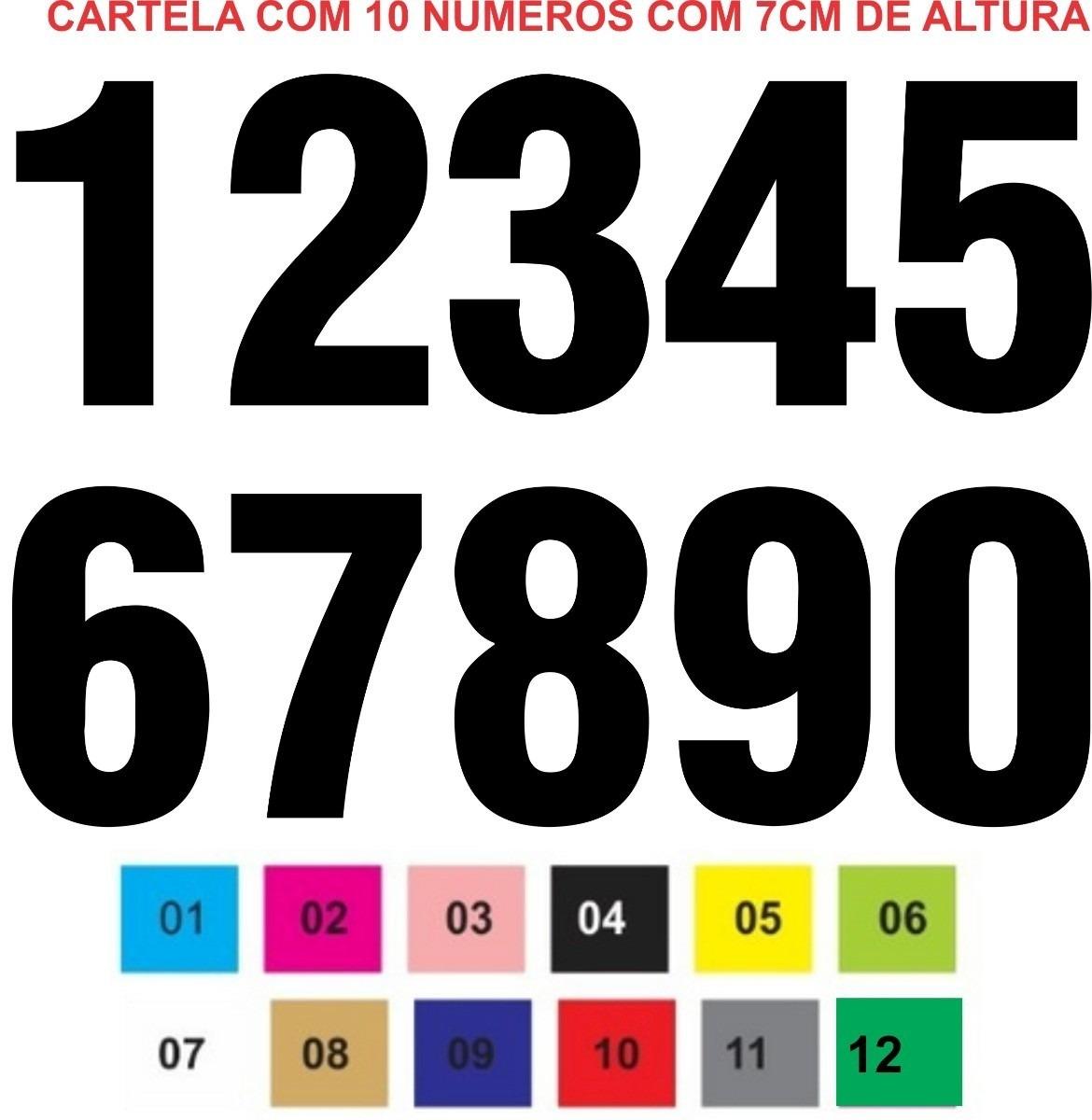 Aparador Estreito Para Sala ~ Cartela De Adesivo Numeros Numericos, Numeral Top R$ 9,99 em Mercado Livre