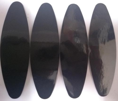 cartela de adesivo refletivo preto tamanho padrão