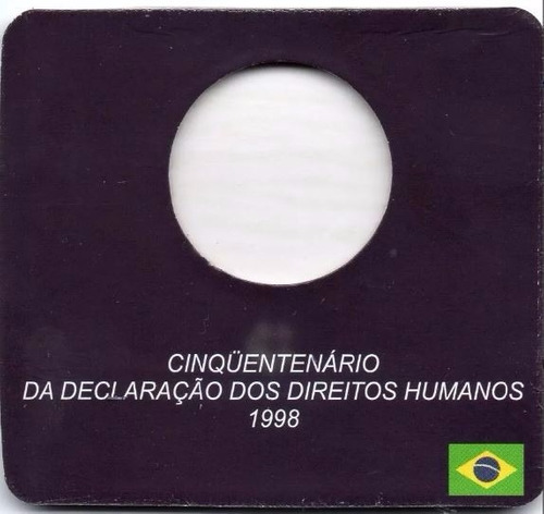 cartela para moeda de 1 real direitos humanos