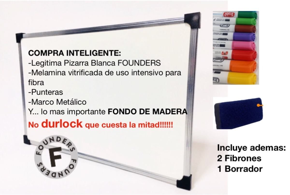Cartelera Blanca 120x200 Marco Metal+ Marcador+borrador ...