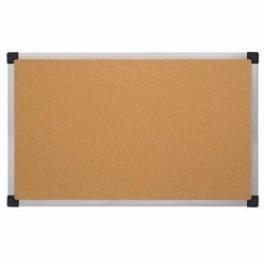cartelera de corcho 40x60 marco metalico