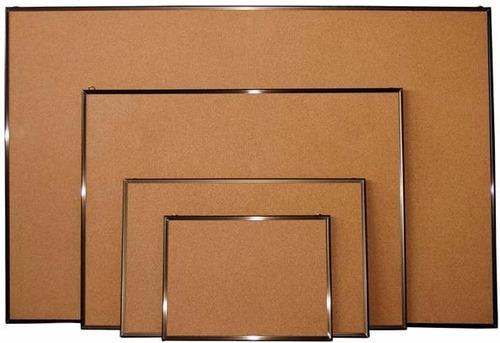cartelera de corcho marco madera y aluminio.