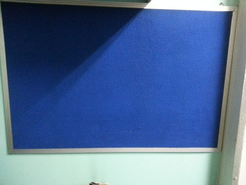 cartelera de lujo   azul  fieltro marco de aluminio 120x 80