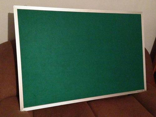 cartelera fieltro verde marco aluminio 1:20cm x80 cm
