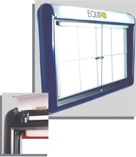 cartelera tipo vitrina con iluminación (imantada)