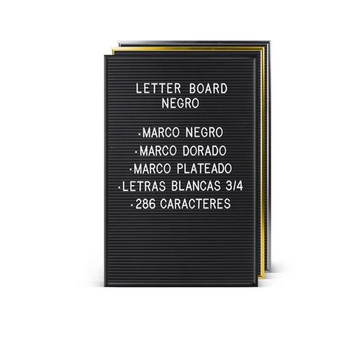 cartelera vintage pizarra plástica letras letter board gato