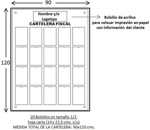 carteleras acrílicas fiscales gran formato