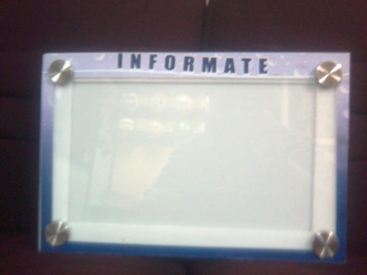 Carteleras Informativas En Acrílico 1.20m*0.80cm - U$S 314,00 en ...
