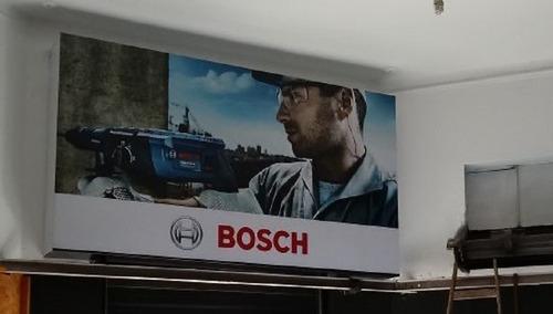 carteleria en lona tensada de la marca bosch