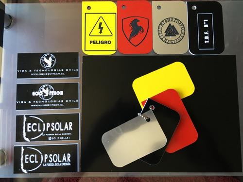 cartelería industrial bicolor lamicoid personalizados
