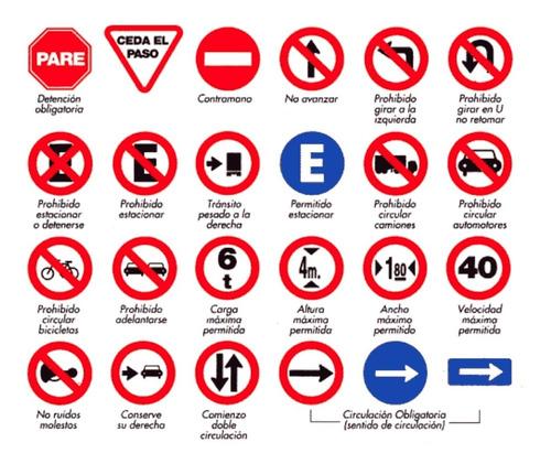 cartelería vial reglamentaria en avenida calchaquí