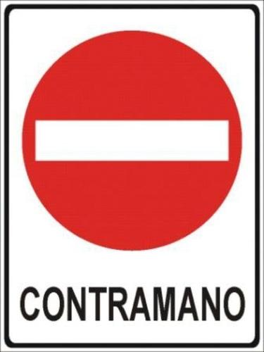 cartelería vial reglamentaria en avenida san martín