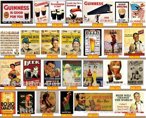 carteles antiguos chapa gruesa 20x30cm cerveza beer dr-097