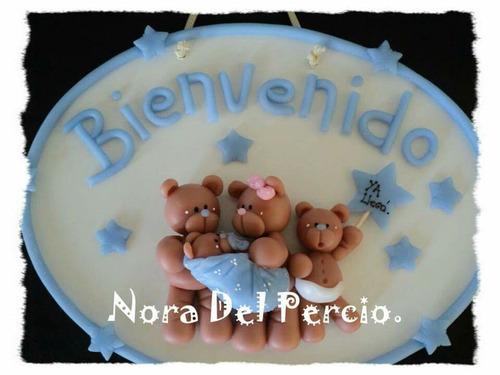 carteles con nombre!!! en porcelana fría. nacimiento.