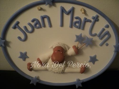 carteles con nombre!en porcelana fría.nacimiento.super ofert