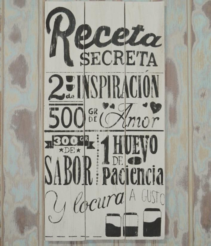 Carteles Cuadros Frases Madera Vintage 60x30cm
