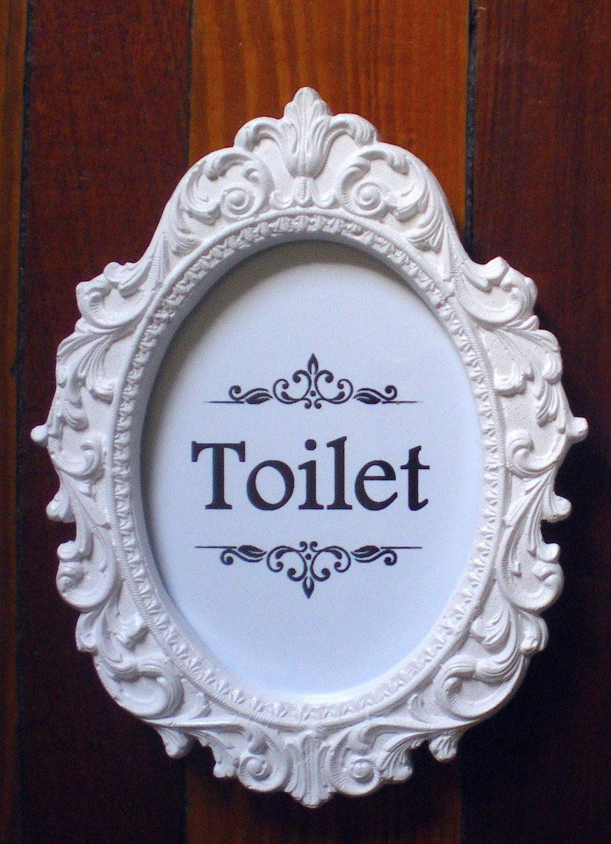 carteles cuadros p bao toilet vintage shabby chic