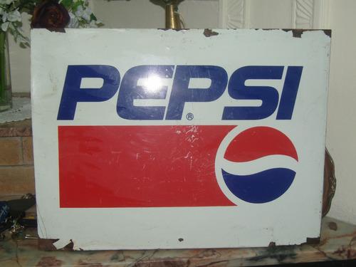 carteles de chapa pepsi  no esmaltado