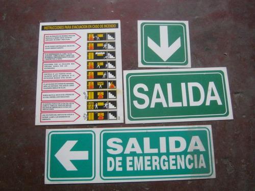 carteles de señalización para planes de evacuación