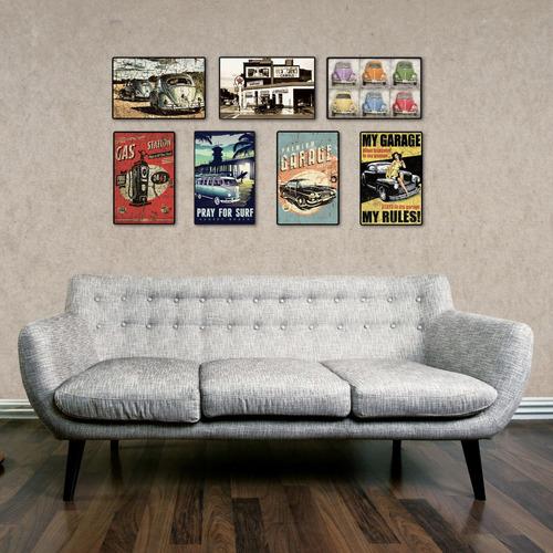 carteles decorativos chapa de madera - 19x29 escarabajo