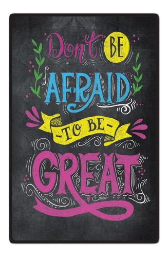 carteles decorativos chapa de madera - 19x29 frase great