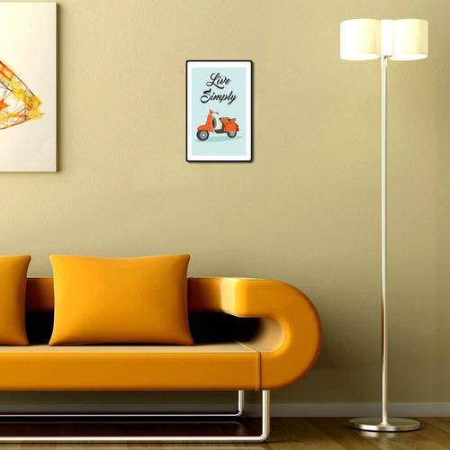 carteles decorativos chapa de madera - live simply 19x29cm