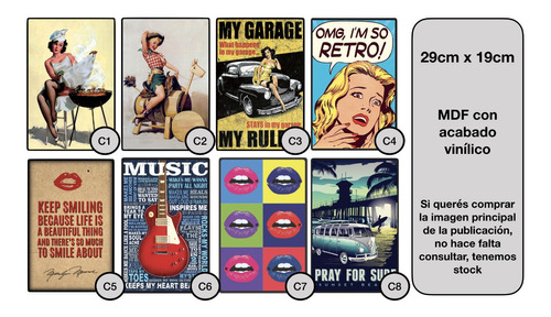 carteles decorativos chapa de madera - my garage my rules