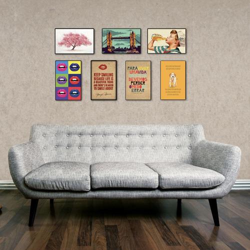 carteles decorativos cuadro chapa de madera -bocas pop up