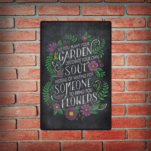 carteles decorativos jardin