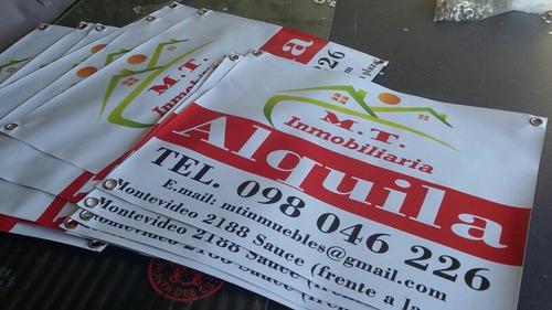 carteles en lona /alquila / vende con ojales