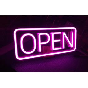 dfa9ac9fff21e Cartel Open Neon - Arte y Artesanías en Mercado Libre Argentina