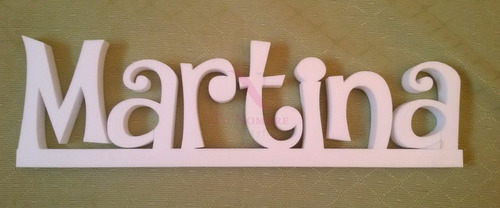 carteles nombres palabras de  20 cm x 56 cm polyfan corpóreo