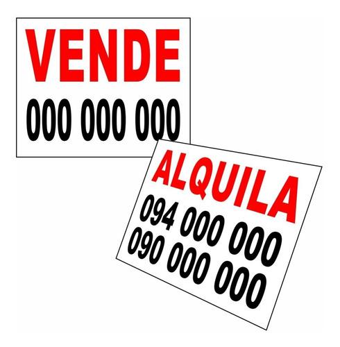 carteles para inmobiliarias o particulares - venta  alquiler