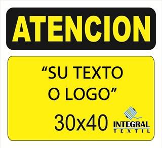 carteles personalizados con su texto 22x28 cm alto impacto