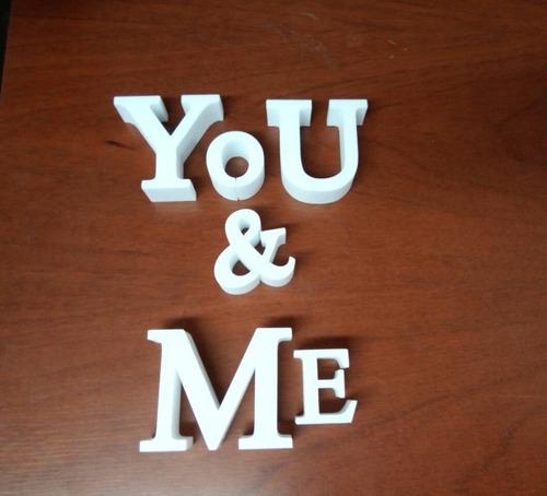 carteles polyfan 15 cm letras corporeas  tu nombre