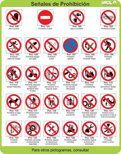 carteles prohibición 30x30cm 10 uds. modelos a elección