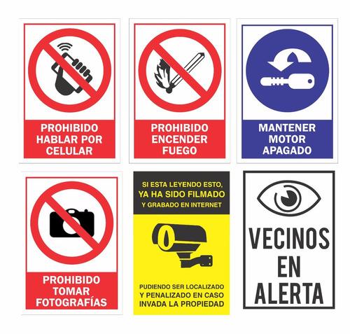 carteles prohibido fumar- cartelería- señalética