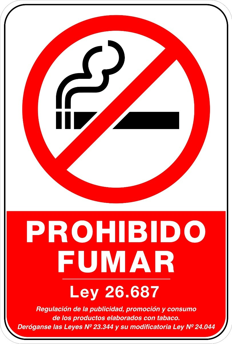 Carteles Senales Prohibido Fumar 20x30