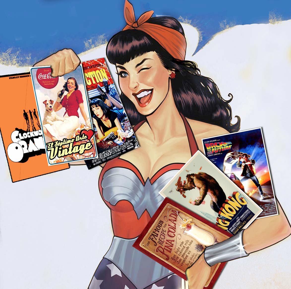 Carteles vintage posters retro para decoracion sav7 en mercado libre - Carteles retro ...