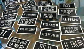 Cartelitos Frases Selfie Props Fiesta Cumpleaños Casamiento