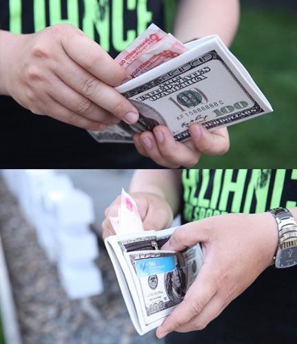 cartera 100 dólares franklin