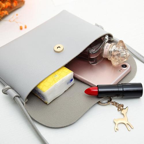 cartera bandolera cuero ecológico - estilo sobre de mano