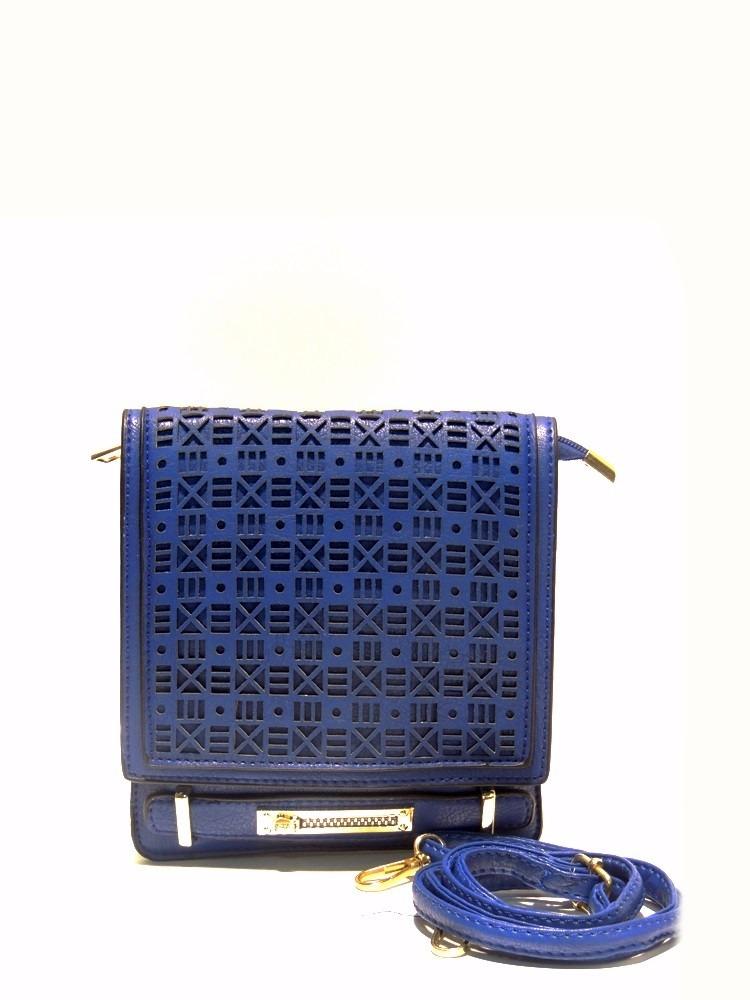 6d3984553 Cartera Bandolera Cuero Sintético Mujer Noche Azul - $ 350,00 en Mercado  Libre