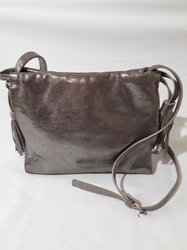 ae9f2bb73 Cartera Bandolera Prune De Cuero Peltre - $ 950,00 en Mercado Libre