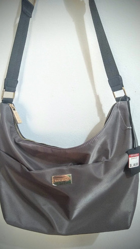 cartera basement hobo ou nylon taupe