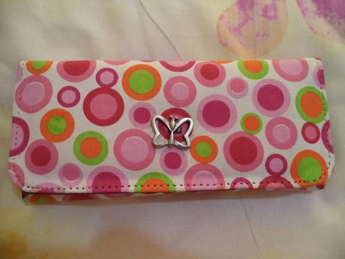 cartera billetera americana de bolas de colores nueva